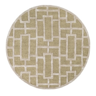Hand-Tufted Thaxted Wool Rug (3'6 Round)