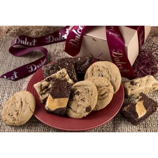 Dulcet's Festive Cookie and Brownie Gift Box