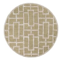 Hand-Tufted Thaxted Wool Area Rug (8' Round) - 8'