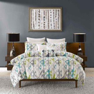 INK+IVY Sierra Green and Grey Comforter 3 Piece Set
