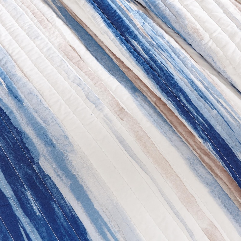 Shop Madison Park Anchorage Nautical Blue Coverlet Set - Overstock - 11148602