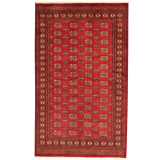 Herat Oriental Pakistani Hand-knotted Prince Bokhara Wool Rug (5'2 x 8'3)