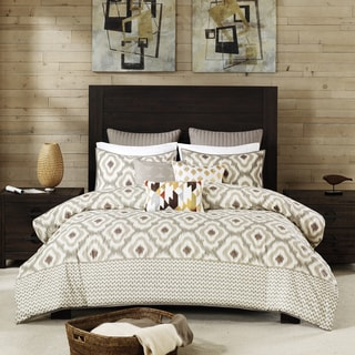 INK+IVY Ankara Neutral Duvet Cover 3 Piece Set