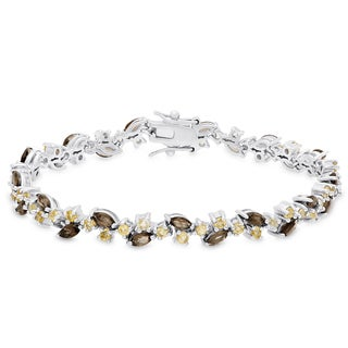 Dolce Giavonna Gold Over Sterling Silver Gemstone Bracelet