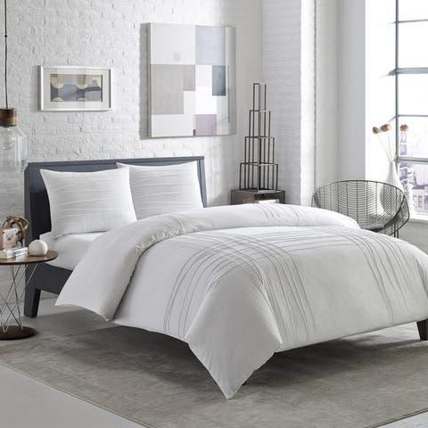 Carbon Loft Gramme Variegated Pleats Cotton Comforter Set