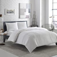 Carbon Loft Gramme Variegated Pleats Cotton Comforter Set
