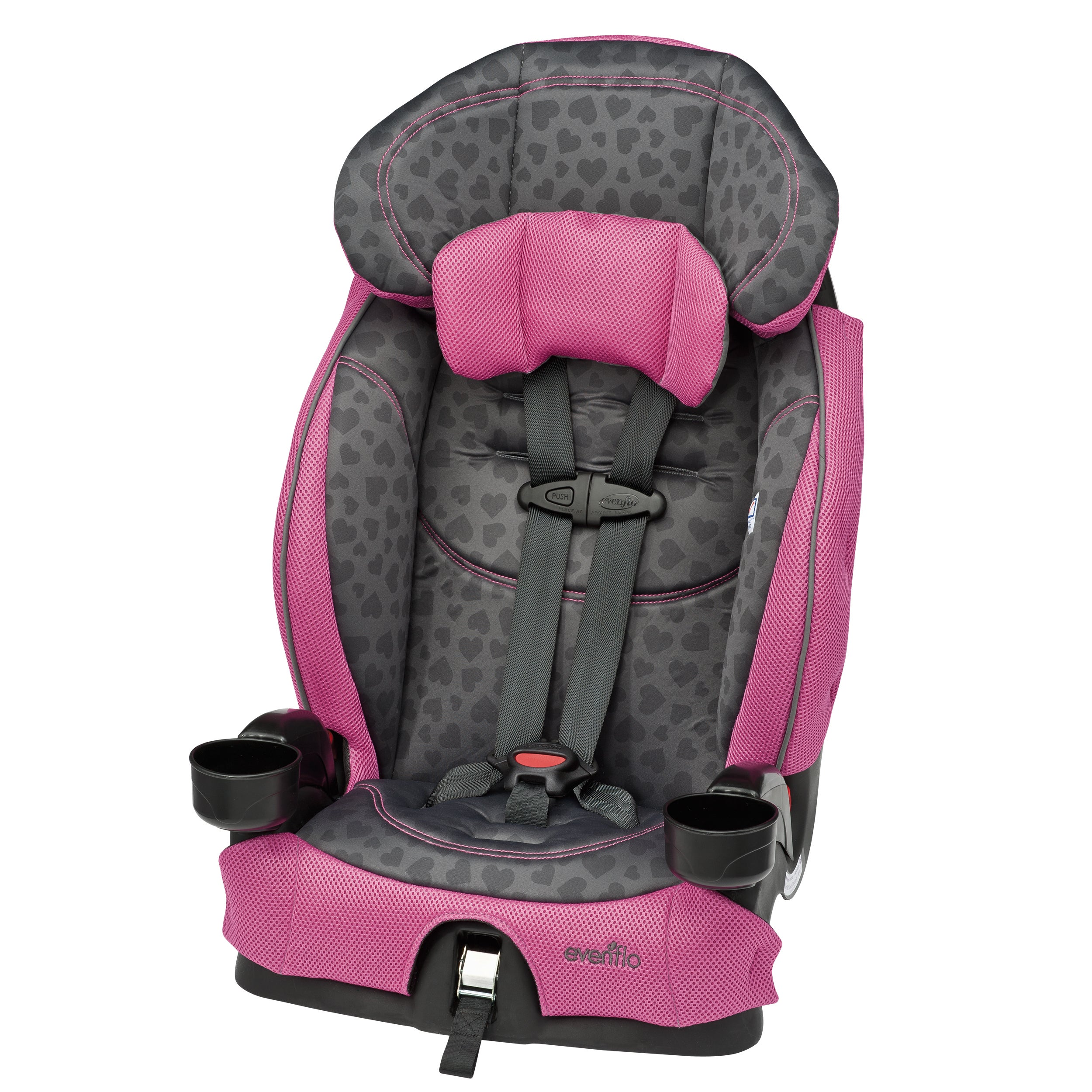 Evenflo Chase LX Booster Car Seat in Tonal Hearts (Tonal ...