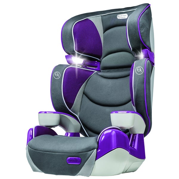 evenflo rightfit booster car seat in hollyhock free shipping today overstock 18146580. Black Bedroom Furniture Sets. Home Design Ideas