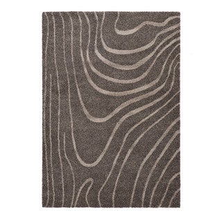 "Somette Lockwood Collection Dark Grey Abstract Area Rug (7'10"" x 11'2"")"