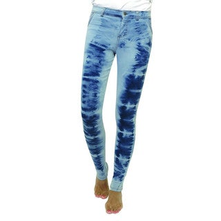 Memoi Women's Ice Crystal Denim Leggings