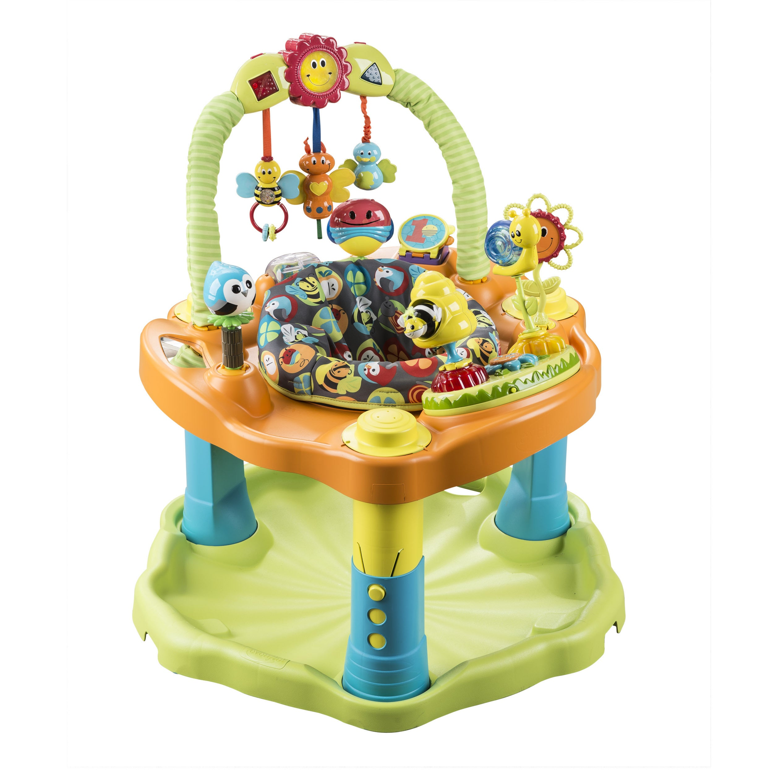 Evenflo Bumbly ExerSaucer Double Fun Saucer (Bumbly), Gre...