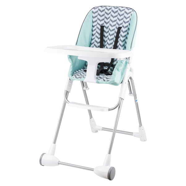Evenflo Symmetry Flat Fold High Chair in Spearmint Spree 17206764