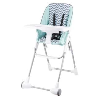 Evenflo Symmetry Flat Fold High Chair in Spearmint Spree|https://ak1.ostkcdn.com/images/products/11148853/P18146657.jpg?impolicy=medium