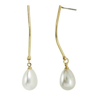 Alexa Starr A-Wire With Pearl Drop Earrings