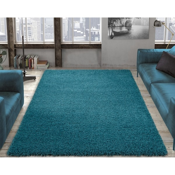 Ottomanson Soft Cozy Shag Rug Contemporary Soft Shaggy Area Rug by Ottomanson