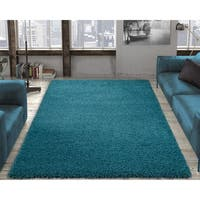 Ottomanson Soft Cozy Shag Rug Contemporary Soft Shaggy Area Rug - 6'7 x 9'3
