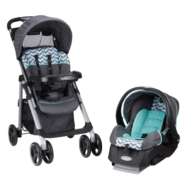 Shop Evenflo Vive Travel System With Embrace In Spearmint