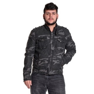 Excelled Men's Full Zip Print Camo Cotton Jacket