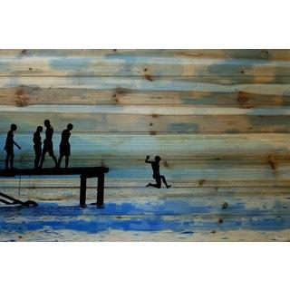 Parvez Taj - Feet First Painting Print on Natural Pine Wood