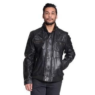 Excelled Men's Four Pocket Leather Jacket