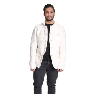 Excelled Men's Linen White Shirt Jacket