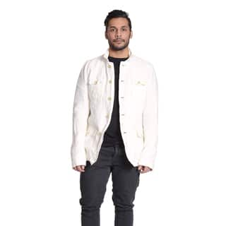 Excelled Men's Linen White Shirt Jacket|https://ak1.ostkcdn.com/images/products/11148885/P18146639.jpg?impolicy=medium