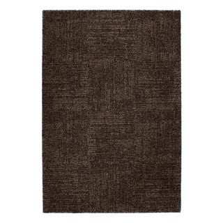 Somette Amery Collection Chocolate Solid Area Rug (5.3' x 7.7')