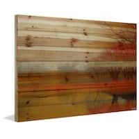 Parvez Taj - Lake Morning Mist Painting Print on Natural Pine Wood