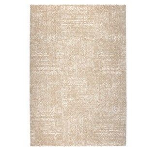 Somette Amery Collection Natural Solid Area Rug (5.3' x 7.7')
