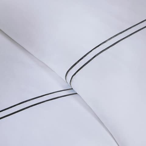 Madison Park Signature Luxury 1000 Thread Count Embroidered Cotton Sateen Duvet Cover Set 4-Color Option