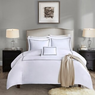 Madison Park Signature 1000 Thread Count Embroidered Cotton Duvet Cover Set