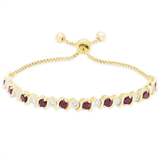 Dolce Giavonna Gold Over Sterling Silver Gemstone Adjustable Slider Bracelet|https://ak1.ostkcdn.com/images/products/11148952/P18146676.jpg?impolicy=medium