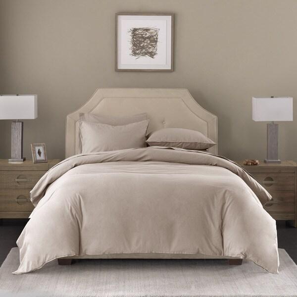 Madison Park Signature Cotton/Linen Blend 3-Piece Duvet Cover Set