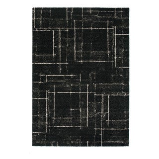 Somette Marion Collection Charcoal Abstract Area Rug (5.3' x 7.7')