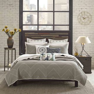 INK+IVY Pomona Taupe Cotton Coverlet 3 Piece Set