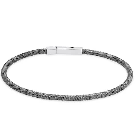 Dolce Giavonna Gold Over Silver or Sterling Silver Cord Bracelet