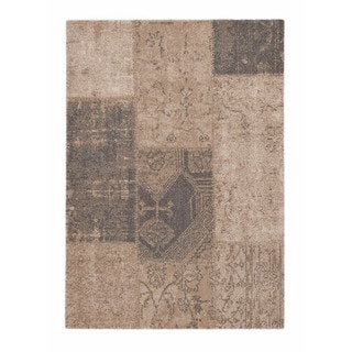"Somette Baxter Collection Beige Abstract Area Rug (7'10"" x 11'2"")"