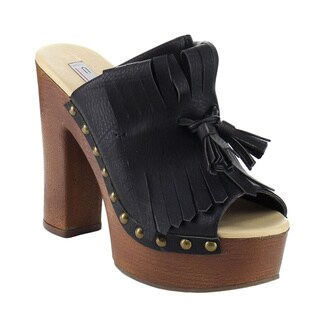 Beston AB07 Women's Tassel Tie Chunky Heels