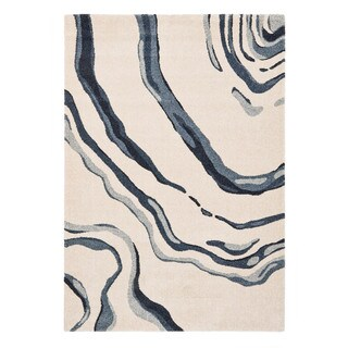 "Somette Baxter Collection Ivory Abstract Area Rug (7'10"" x 11'2"")"