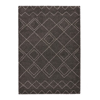 "Somette Lockwood Collection Charcoal Trellis Area Rug (7'10"" x 11'2"")"