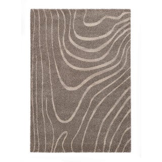 "Somette Lockwood Collection Light Grey Abstract Area Rug (7'10"" x 11'2"")"