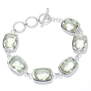 Sterling Silver and Gemstone Adjustable Toggle Bracelet