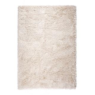 "Somette Gratz Collection Natural Solid Shag Area Rug (7'10"" x 10'10"")"