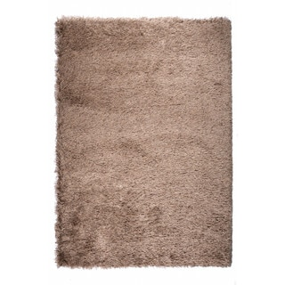 "Somette Gratz Collection Brown Solid Shag Area Rug (7'10"" x 10'10"")"