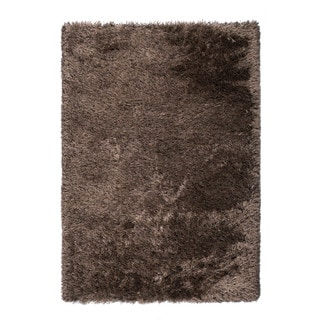 "Somette Gratz Collection Chocolate Solid Shag Area Rug (7'10"" x 10'10"")"