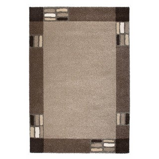 "Somette Amery Collection Metallic Grey Border Area Rug (6'7"" x 9'6"")"