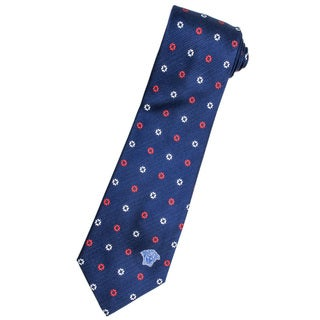 Versace 100-percent Italian Silk Navy Blue/ Red Floral Neck Tie
