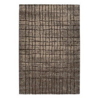 "Somette Amery Collection Anthracite Grid Area Rug (6'7"" x 9'6"")"