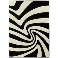 LYKE Home Contemporary Zebra Area Rug - 8' x 11'