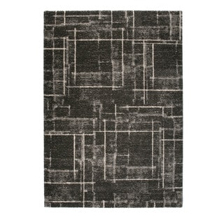 "Somette Marion Collection Grey Abstract Area Rug (6'7"" x 9'6"")"